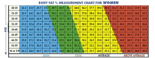 Процент жира в организме женщины и мужчины, фото